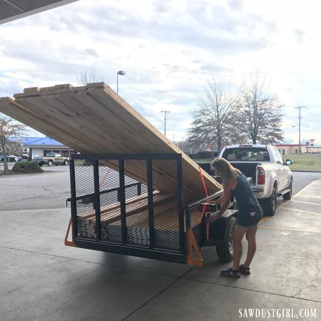 Hauling lumber to Calderwood Cottage