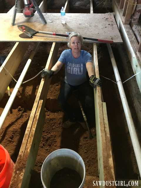 The horror of digging out crawl space