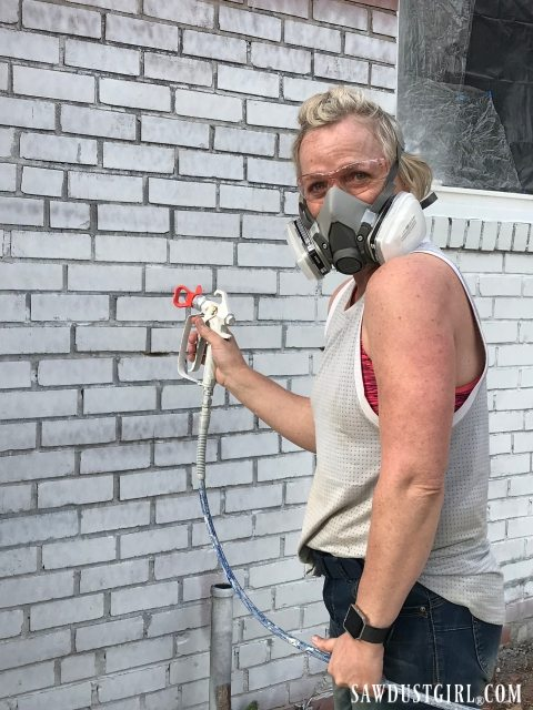 Airless sprayer for brick house
