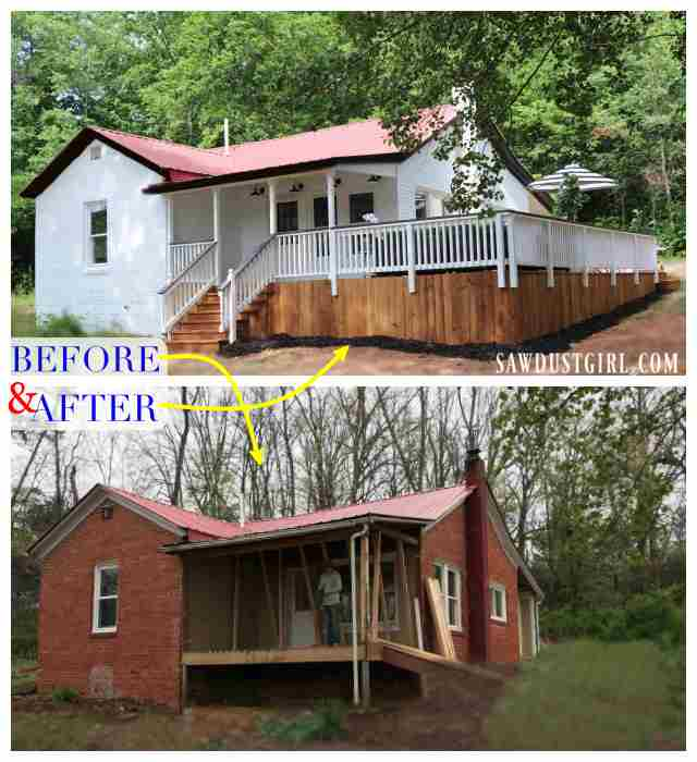 Calderwood Cottage - before and after