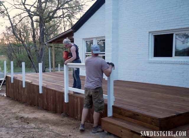 Installing deck railings