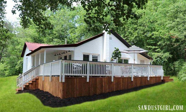 Calderwood Cottage with deck