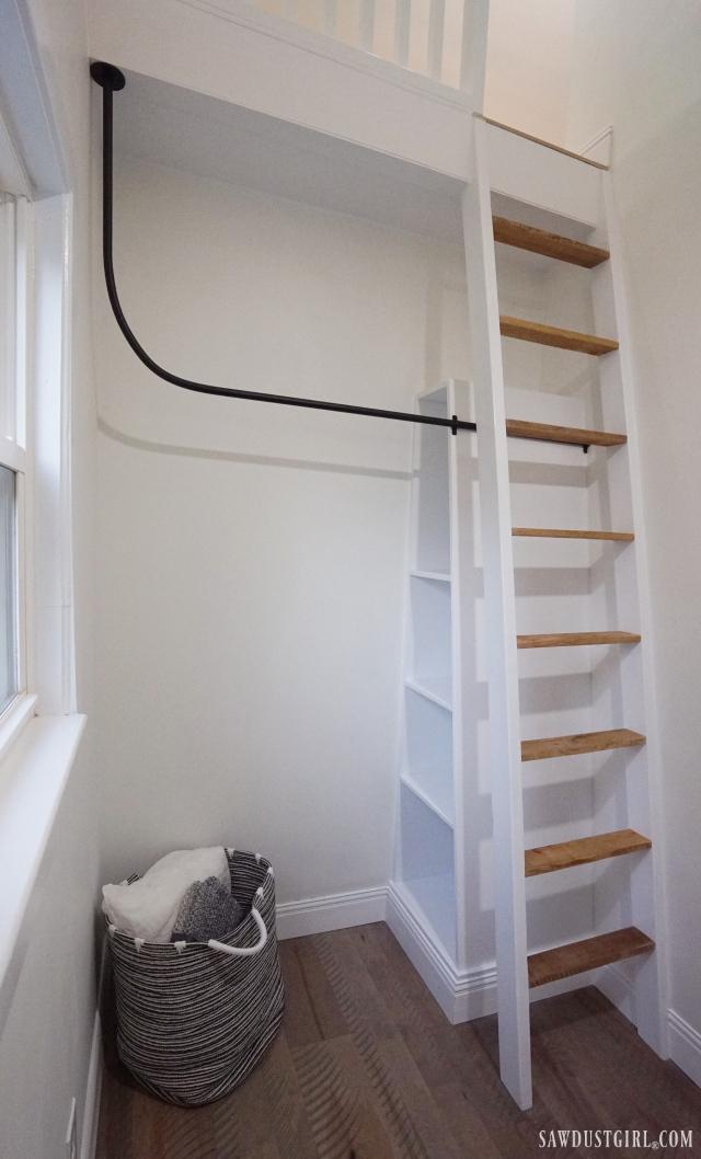 industrial bedroom closet