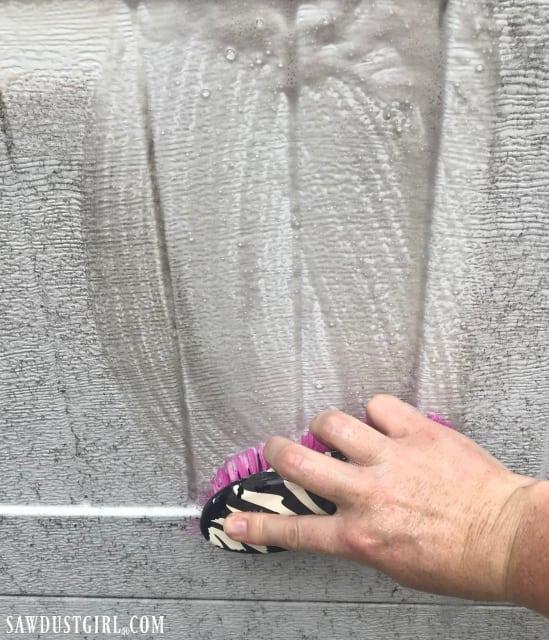 Dish soap to clean garage door