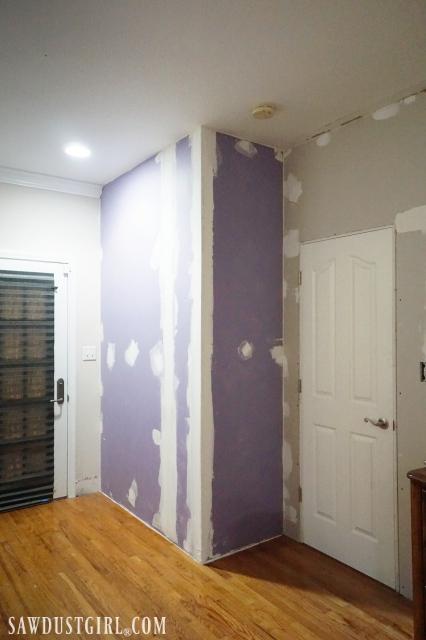 Reduce sound between rooms by adding PURPLE ShoundBreak RetroFit drywall.
