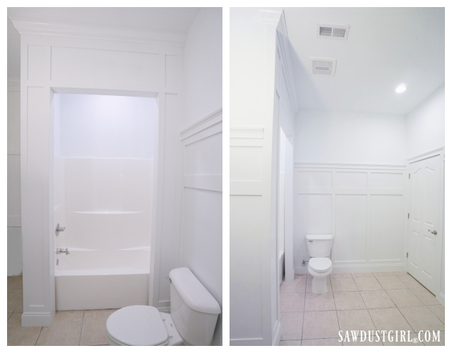 Bathroom wainscot