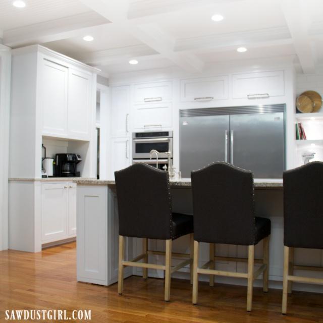 kitchen renovation complete, white cabinets