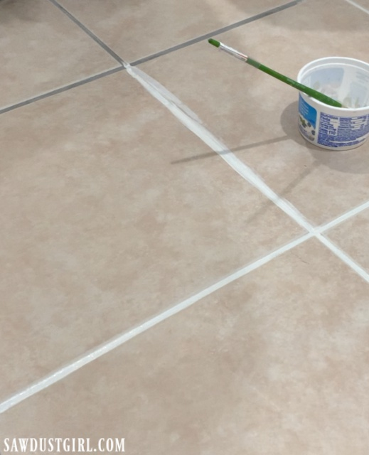grout paint it really works sawdust