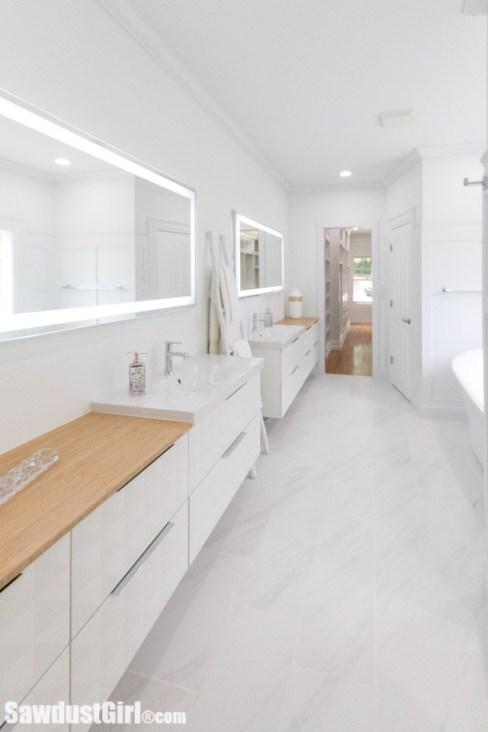 gorgeous master bathroom makeover