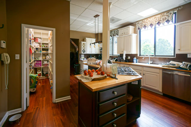 kitchen in Clinton house