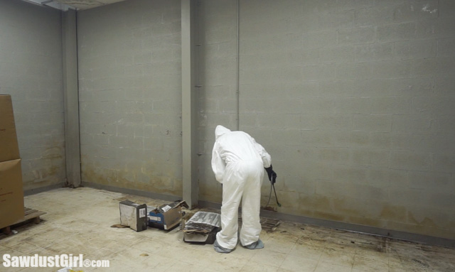 Spraying mold killer