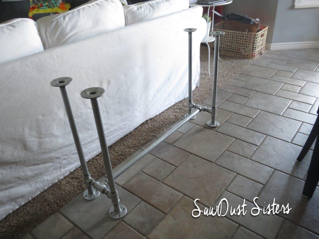 sofa framework tutorial best sets in mumbai easy diy table with pipe frame sawdust sisters