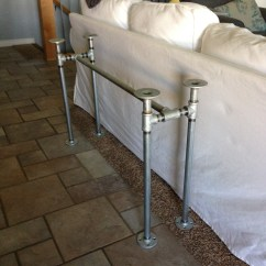 Sofa Framework Tutorial Bed Company Easy Diy Table With Pipe Frame Sawdust Sisters
