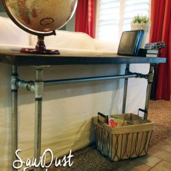 Sofa Framework Tutorial Living Room Design Ideas With Red Easy Diy Table Pipe Frame Sawdust Sisters