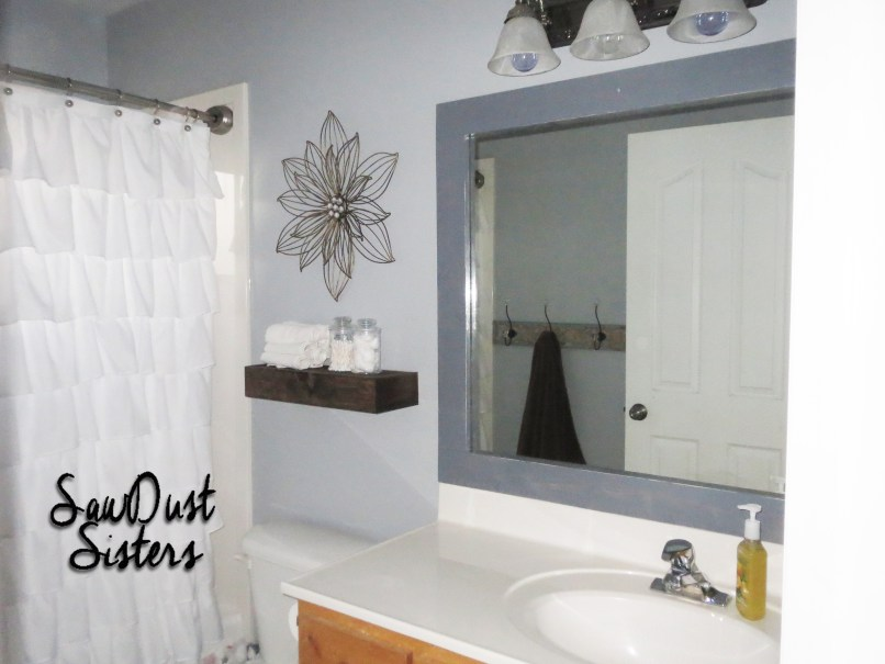 How To Make A Frame For Your Bathroom Mirror | Frameswalls.org