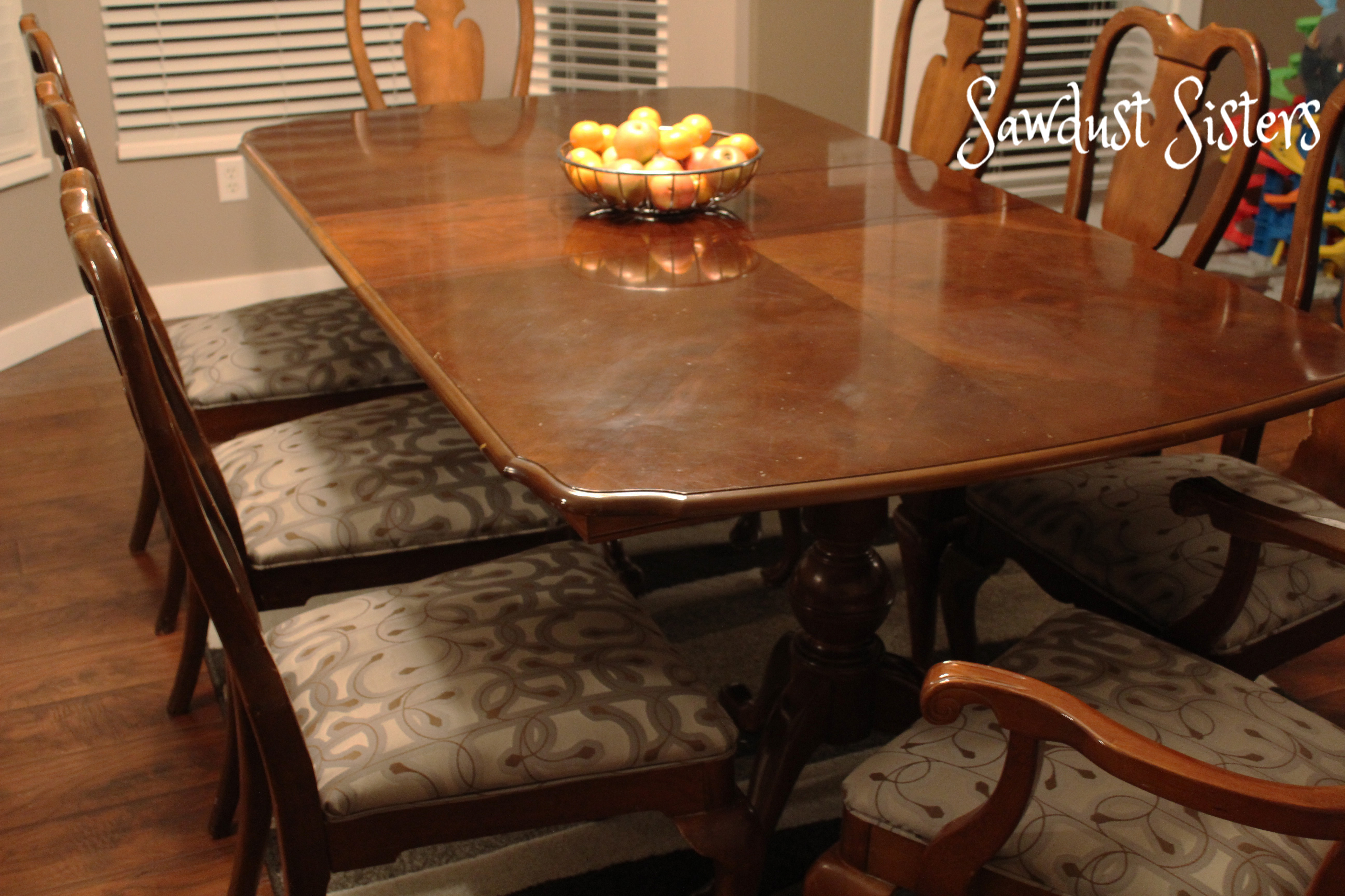 reupholster dining chairs office chair workout how to with piping sawdust sisters and attach full tutorial at sawdustsisters com