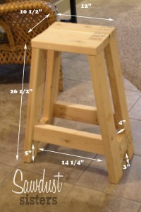 How To Build A Bar Stool Out Of Wood | Bruin Blog