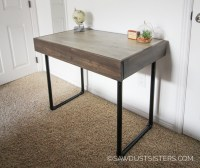 Build a Small Computer Desk with Pipe Legs {FREE PLANS ...