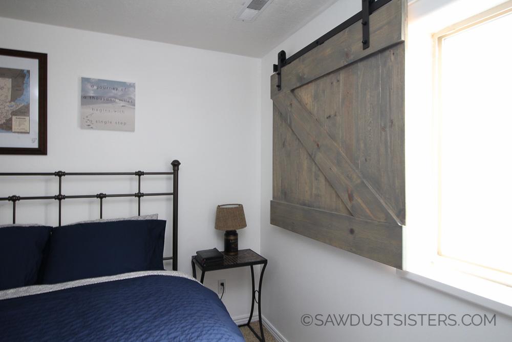 DIY Barn Door Style Window Covering Sawdust Sisters