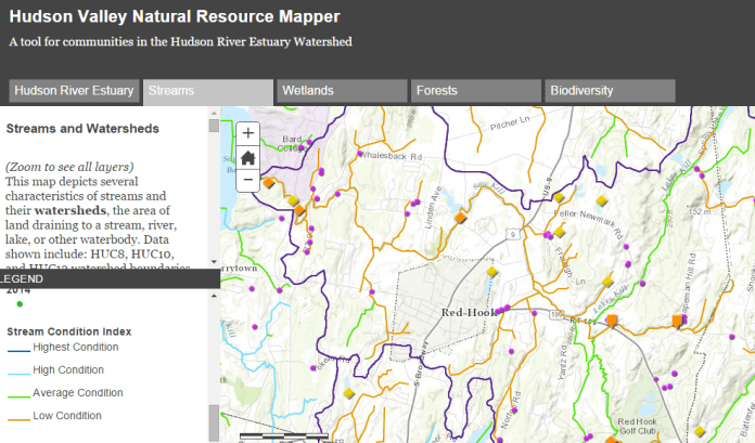 Saw Kill map ZOOMED - Hudson Valley Natural Resource Mapper