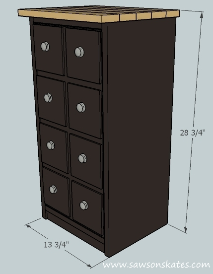 This Small DIY Apothecary Cabinet Would Be Prefect As End Table, Night Stand
