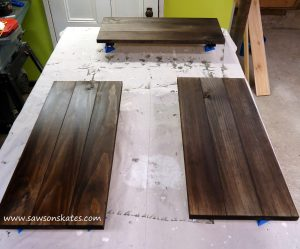 wood dye done