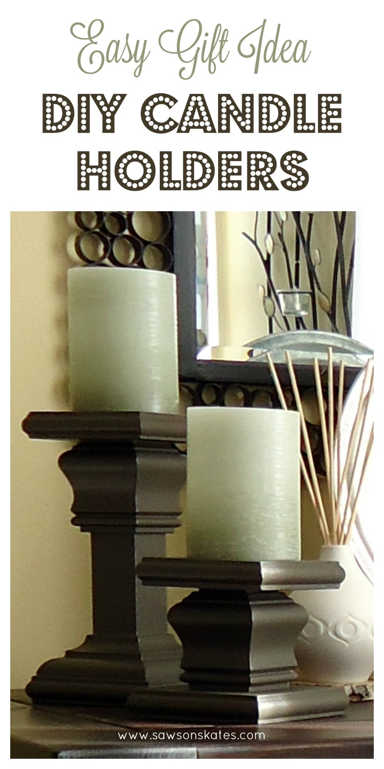 where to nail chair rail dining covers homebase diy candle holders from the scrap pile
