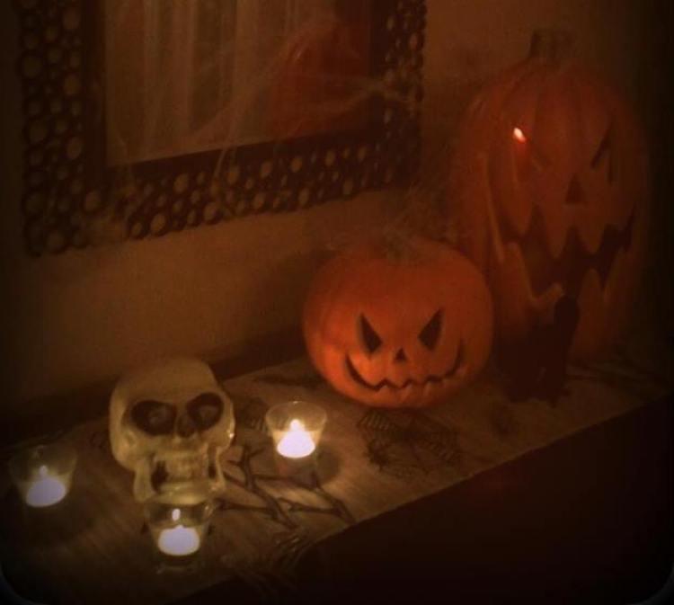 halloween sideboard
