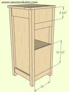 How to make a DIY Wine Cabinet Back Installation- Free Plans