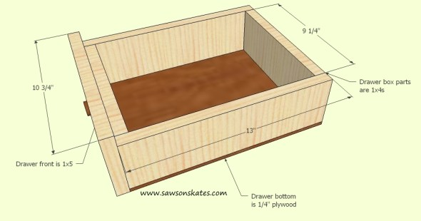 Wine Cabinet drawer site