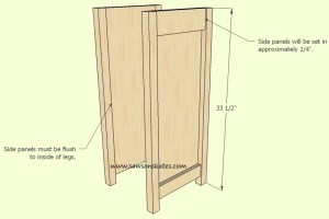 How to make a DIY Wine Cabinet Leg Panel Assembly - Free Plans