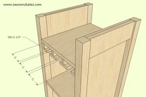 How to make a DIY Wine Cabinet Stemware Installation
