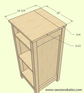 How to make a DIY Wine Cabinet Top Assembly- Free Plans