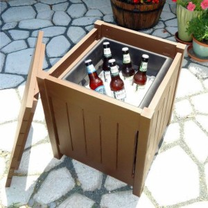 DIY Outdoor Beverage Table with a Surprise