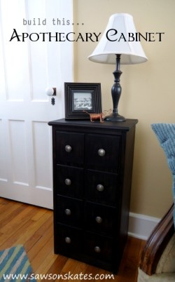 How to build an apothecary cabinet free plans