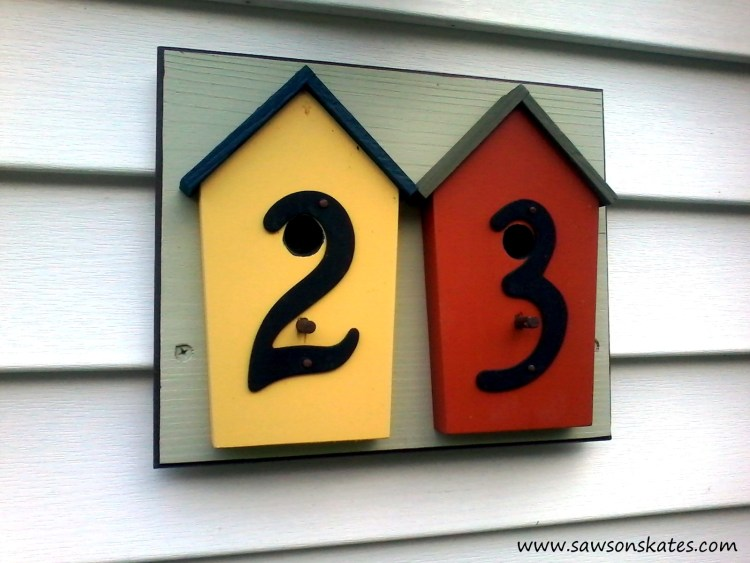 How to Make a DIY Birdhouse Address Plaque finished 3 sos