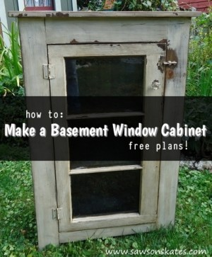 how to make a basement window cabinet