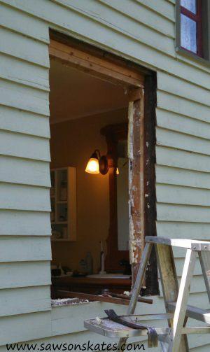 bathroom window removed sos