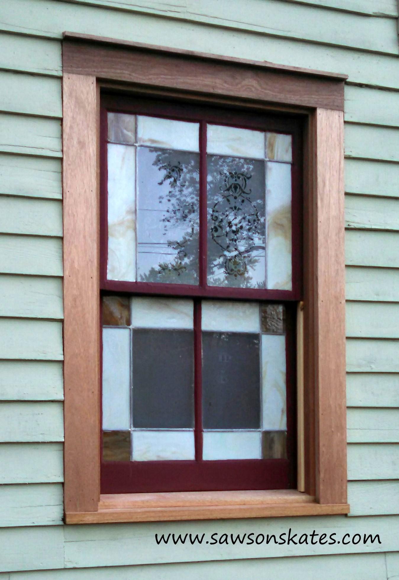 window trim installed 2 sos