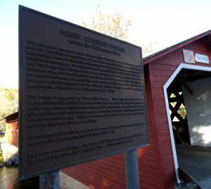 Henry Covered Bridge sign