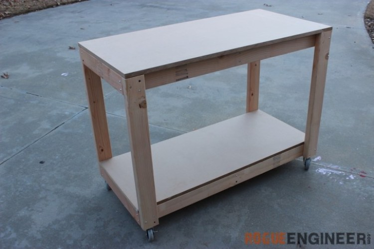 Looking for workbench ideas? Here are 5 DIY workbench plans perfect for a small workshop.