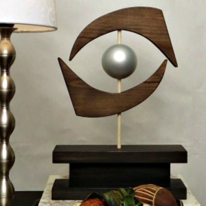 DIY Mid Century Modern Eye Sculpture