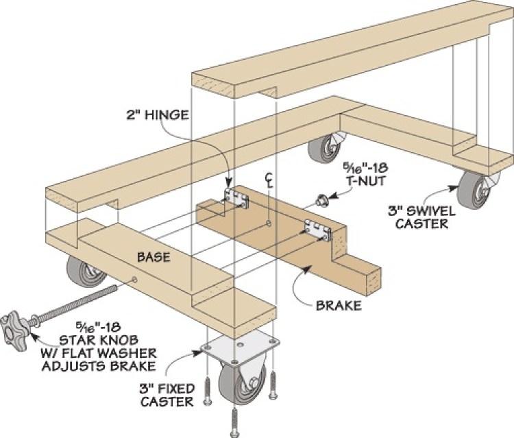 shop built mobile tool base 2