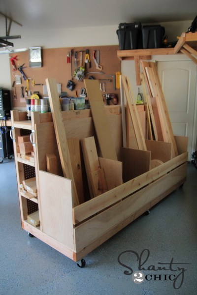 DIY Lumber Storage Cart