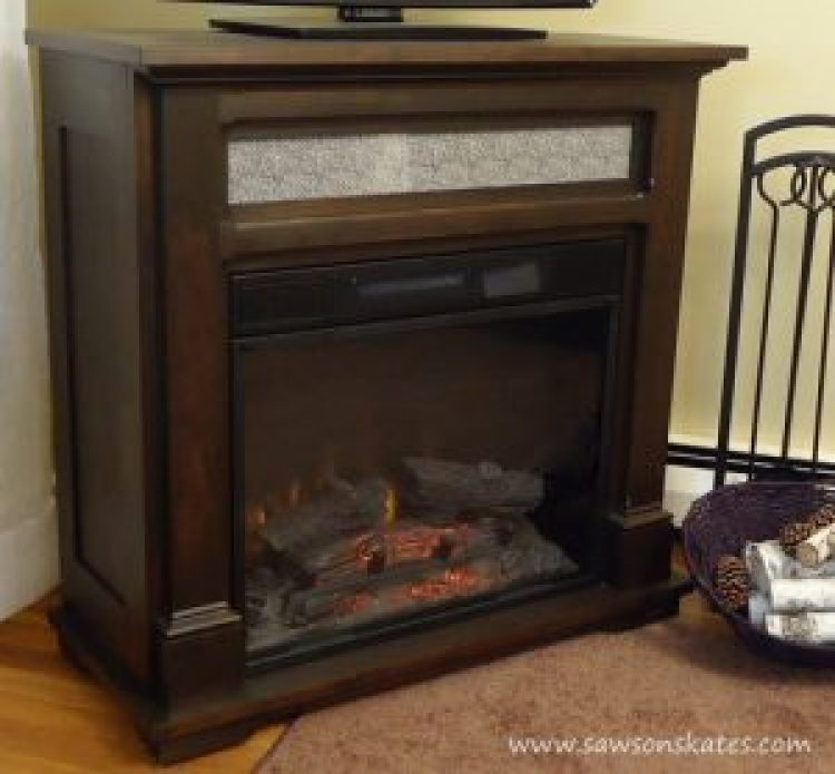 Electric Fireplace Mantle Three Quarter View