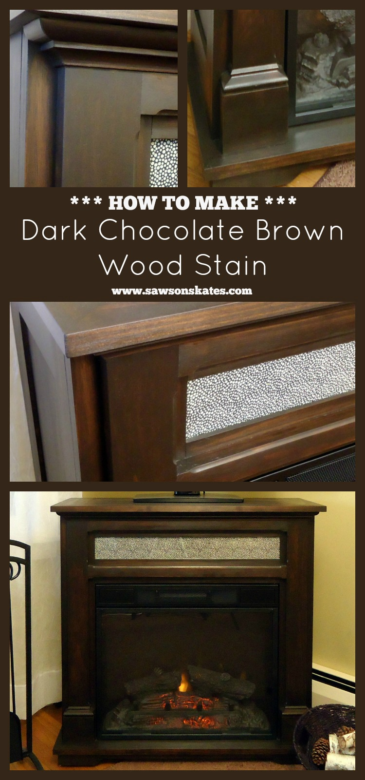 How To Make Dark Chocolate Brown Wood Stain   Www.sawsonskates.com