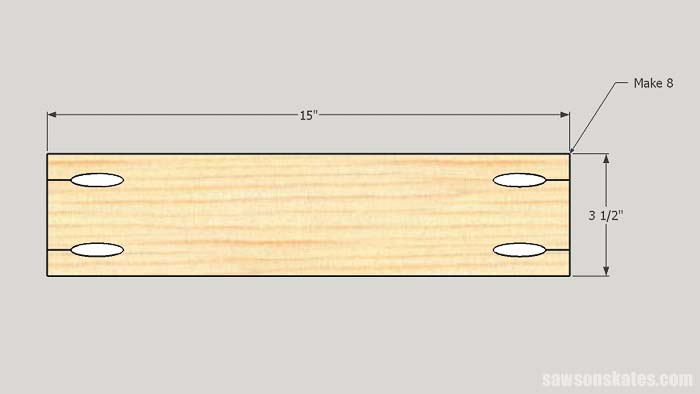 Leg rails for the folding workbench