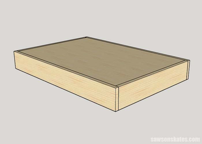 The top assembly for the folding workbench