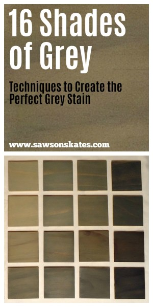 How to Create the Perfect Grey Stain - 16 gray swatches