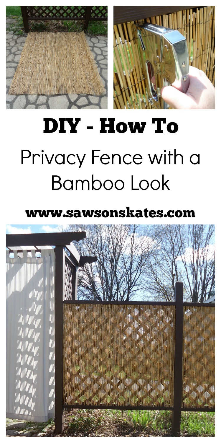 DIY Privacy Fence Bamboo Look